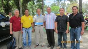 Bayawan City Mayor Gerry Seraña and Zarraga Mayor John Tarrosa with key officials.